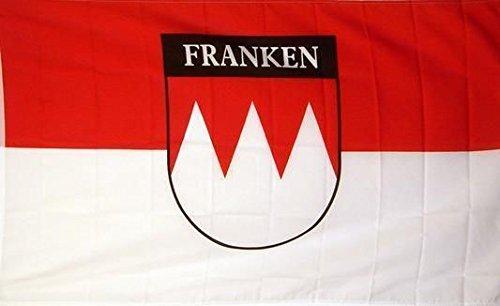 U24 Fahne Flagge Franken mit Schrift 90 x 150 cm