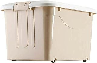 Lpiotyucwh Paniers et Boîtes De Rangement, 1pcs de Grande capacité Stockage de Stockage en Plastique avec Roues (Beige, Bl...