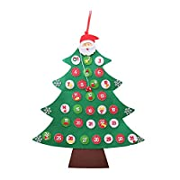 Ruiqas クリスマスアドベントカレンダー クリスマスデコレーションハンギング クリスマスツリーカウントダウンカレンダー オーナメント チャーム 手作りアクセサリー 装飾パーツ サンタ