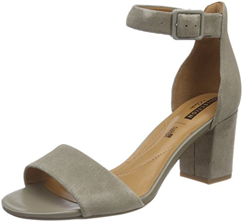 Clarks Deva Mae, Zapatos con Tacon y Correa de Tobillo para Mujer