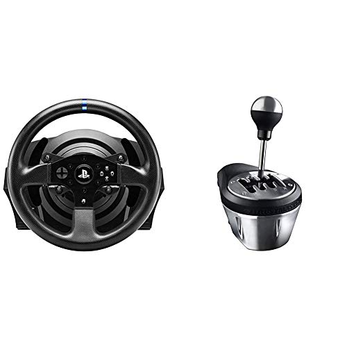 ThrustMaster T300 RS - Volante - PS4 / PS3 / PC - Force Feedback - Motor brushless de Clase Industrial - Licencia Oficial Playstation + TH8A - Palanca de Cambio, Multiplataforma