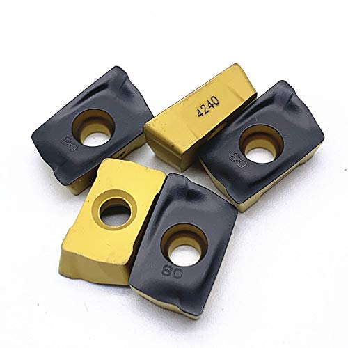 without brand 10pcs CNC Fresado Inserciones de carburo R390-180608M-AM/PM R390-180612M-4240 Herramientas Cortador Corte (Color : R390 180608M PM4240)