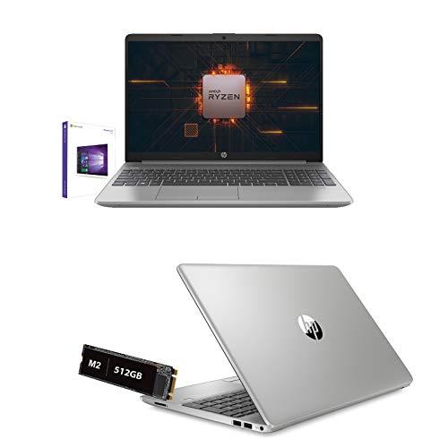 Notebook HP 255 G8 Amd Ryzen 5 3500U 3.7 Ghz Pantalla 15.6' Full HD, RAM 8 Gb Ddr4, SSD 512 Gb Nvme, HDMI, WiFi, LAN, Bluetooth, Webcam, Windows 10Pro, Antivirus