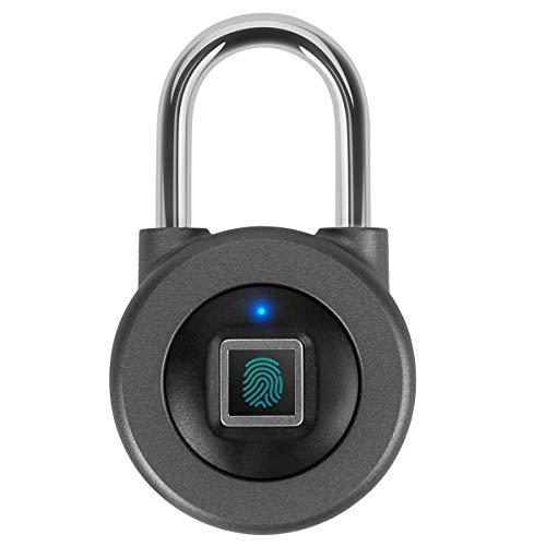 cerradura de huellas digitales,Candado de Puerta/Cerradura Cifrado/cerradura electronica Carga USB Impermeable
