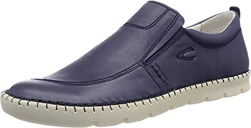 camel active Herren Ethnic 12 Slipper, Blau (Denim 1), 42 EU