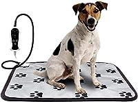 YideaHome ペット用ホットカーペット ペット用ヒーター 電気ヒーター ヒーターマット犬 猫 暖房器具 ペット加熱パッド 噛み付き防止 防水 角型 9段階温度調節 過熱保護 お手入れ簡単 犬 猫 中小型 小動物対応 洗濯可能 (S)