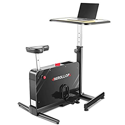 HIROLLOP Desk Cycle Exercise Bike, Portable Fol...