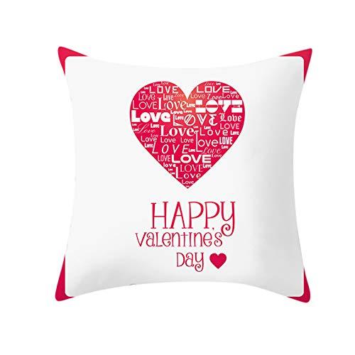 jieGorge Funda de Almohada, decoración del hogar de San Valentín Funda de cojín Funda de Almohada Familiar sobrevivida Funda de Almohada, para el Día de San Valentín (E)
