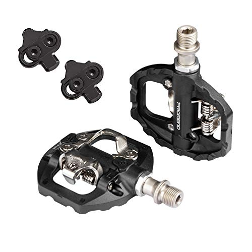SPD Pedal, Perfect for Cross Country and Trail Riding Hybrid Pedal, Suitable for Indoor Exercise Bikes, Spin Bike and all Bikes with 9/16' Axles.