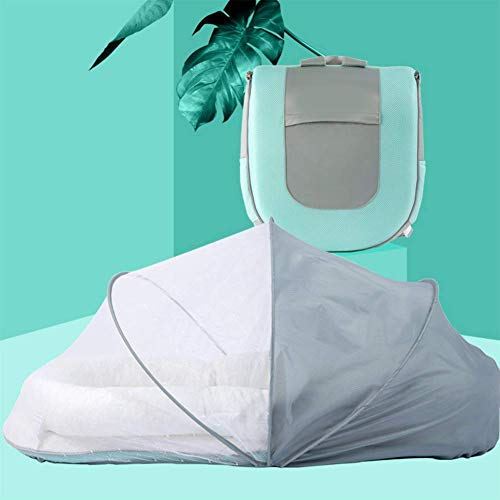 Yuany Foldable Travel Bassinet, 3-In-1 Diaper Bag Portable Bassinet And Travel Changing Station Travel Tote Stylish Mom Bag for Home Travel Outdoor Use