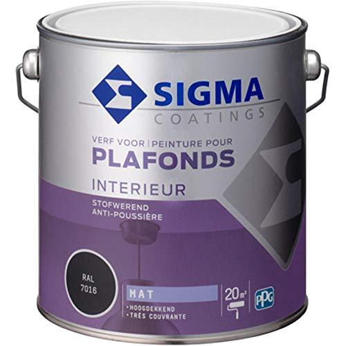 Sigma Wandfarbe undurchsichtig matt anthrazitgrau 2.5L