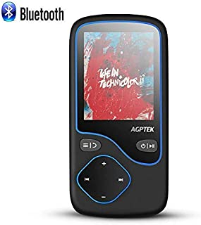 AGPTEK MP3 Player with Bluetooth 4.0, Portable 8GB Lossless Music Player Supports FM Radio Voice Recording, Expandable up ...