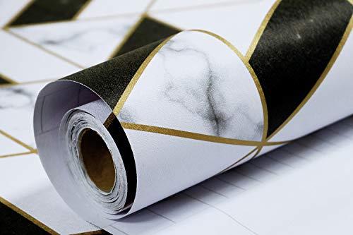 Timeet Papel Pintado de Mármol MATE Pegatinas para Muebles Autoadhesivo Impermeable Encimera de Cocina Decoración de Baño Rollo de Vinilo Pelar y Pegar Película 45x300cm
