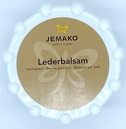 Jemako Lederbalsam 200 ml Dose, Duo-Tuch gelb 18 x 14 cm, DiWa Wäschenetz