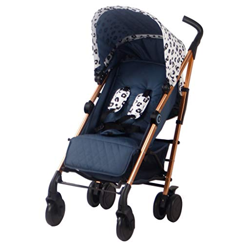 Your Babiie 'MAWMA by Snooki' Rose Gold & Leopard Corinthia Lightweight Infant Stroller - Baby Travel Stroller - Portable & Compact Umbrella Stroller - Suitable from Newborn-Toddler 33lbs