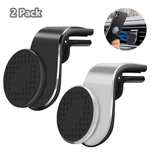 Viedouce 2 Stücke Handy KFZ Halterungen,Handyhalter fürs Auto Magnet Lüftung Handyhalterung Auto KFZ Handy Halterung Magnet Universal für iPhone Samsung Huawei
