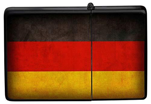 LEotiE SINCE 2004 Feuerzeug Schwarz Benzinfeuerzeug Sturmfeuerzeug Metallfeuerzeug Deutschland Flagge