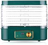 SHKUU Deshidratador Alimentos 5 bandejas con Pantalla Digital, Secadora Frutas con Temporizador y Control Temperatura, para Frutas/Verduras/Carne/Hierbas/Semillas