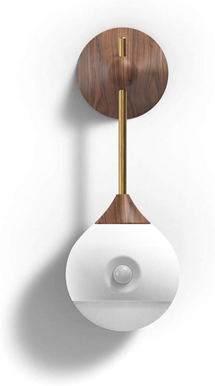 Sunny Sensor Night Light Smart Bedside Lamp Corridor Bad Bedroom Intelligent Human Body Light Wood Grain Usb 5V