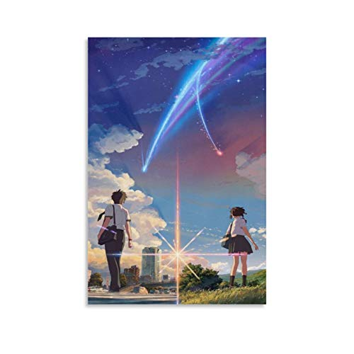 Your Name Anime Poster Decorative Painting Canvas Wall Art Living Room Posters Bedroom Painting 08x12inch(20x30cm)