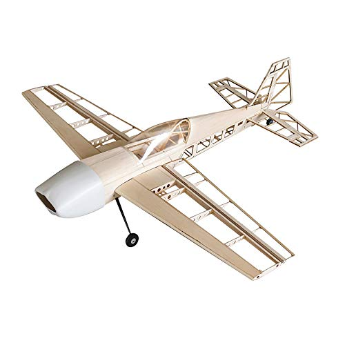 Jamara 006146-Extra 330 1000 mm CNC Lasercut Kit de construcción Avion RC, Color Madera (6146)