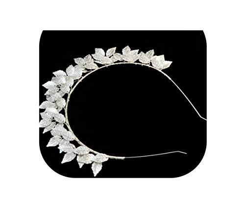 Barok Blad Haaraccessoires Zilver Goud Metaal Tiaras Kronen Haarbanden Bruiloft Hoofdtooi Bruids Griekse Voorhoofd Haar Sieraden, Zilver