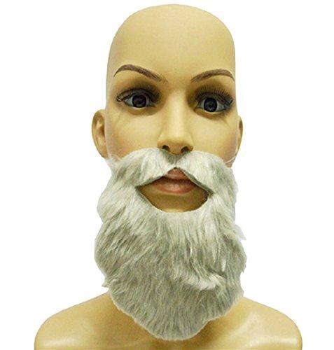 Inception Pro Infinite 1 x Fausse Barbe Grise pour Autocollants de fête - Homme - Femme - Enfants - Adultes - Carnaval - Halloween