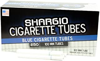Shargio Cigarette Tubes 250ct Box - Blue 100mm Light (4 Boxes) by Shargio