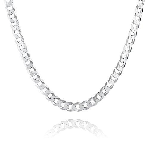 STERLL Herren Silberkette Sterling-Silber 925 60 cm, Ohne Anhänger Schmucketui Kleine Geschenke