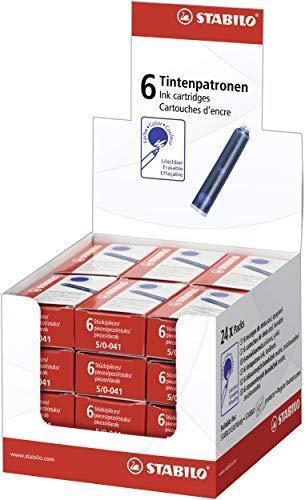 Tintenpatrone zum Nachfüllen - STABILO Refill - 24x 6er Pack - blau