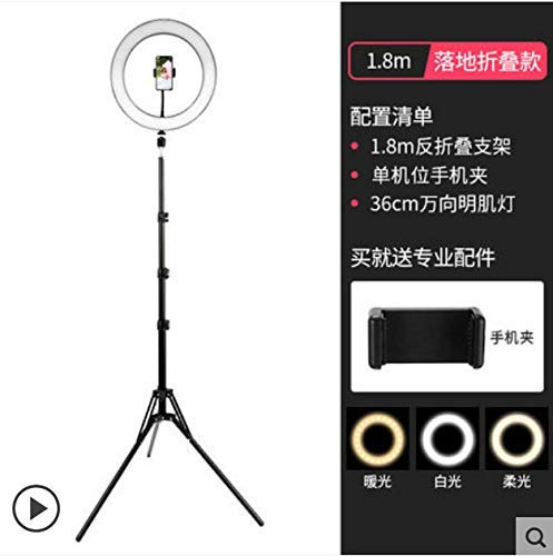 Ring Fill Lampe Handy-Verkäufe Video Live Broadcast Network Recording Studio Led36Cm Fill Light Ring + Pull Höhe 180 cm + 1 Handy-Position DDLS (Color : -)