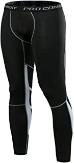 Men Compression Baselayer Active Tights,Joggers Workout Sweatpants,Sports Gym Running Pants Stretch Trousers Bottoms,Leggi...