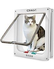CEESC - Carrito grande (tamaño exterior 28 cm x 24,9 cm), bloqueo de 4 vías para gatos y perros pequeños de circunferencia <63 cm, fácil de instalar y de usar
