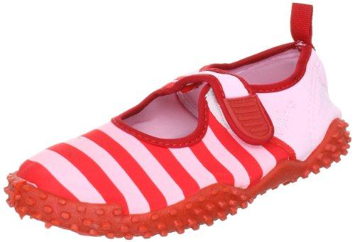 Playshoes Aquaschuhe, Badeschuhe Streifen mit höchstem UV-Schutz nach Standard 801 174795, Mädchen Aqua Schuhe, Rot (rot/rosa 788), EU 20/21
