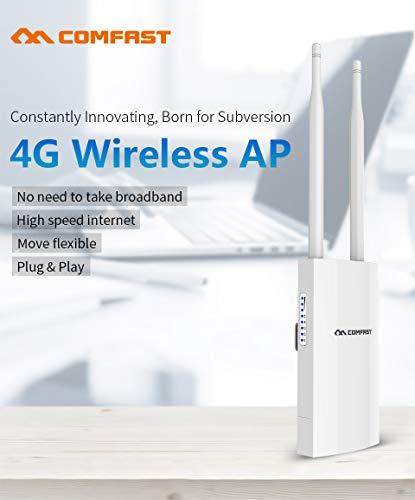 Absir COMAFST CF-E5 High Speed Outdoor 4G LTE Wireless AP Wifi Router 4G SIM Card Portable Wireless Router WiFi Router white US plug