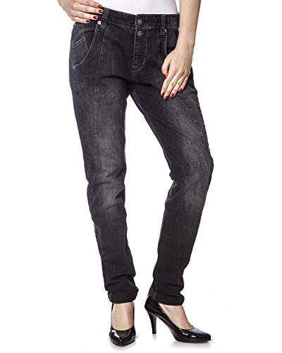 MAC Jeans Slacky Grey Boyfriend Style Denim Damen D965 W34 L32