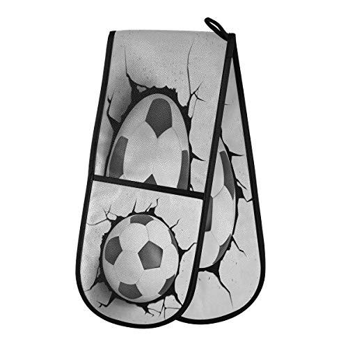 funnyy Grunge Sport Ball - Guantes dobles para horno,...