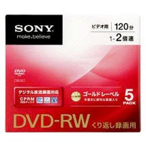 ソニー くり返し録画用 DVD-RW 1-2倍