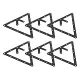 Etiqueta de inicio de billar Etiqueta de estante de billar Estrechamente conectada 6PCS Etiqueta de péndulo de billar Etiqueta de posición de billar Etiqueta de inicio para el partido