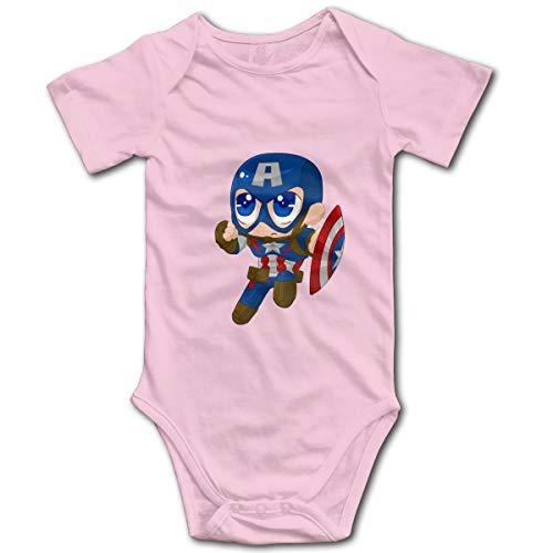 Baby Boys Girls Unisex Romper Bodysuit Captain-America-Hulk-Iron-Man Infant Lovely Jumpsuit Pink1 18 Months