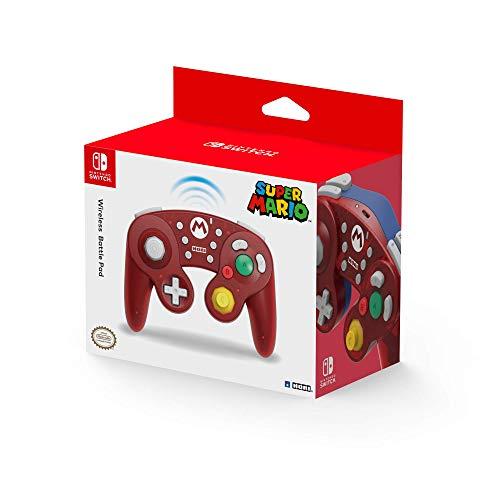 HORI Kabelloser Nintendo Switch Battle Pad (Mario) Controller Im GameCube-Stil [