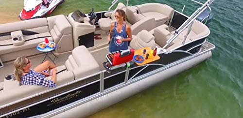 Arnalls Pontoon Boat Table - Boat & Marine Grill Accessory – Perfect for Pontoon Boats - Stainless Steel Bracket Set Table - Pontoon Accessory - Utility Bar