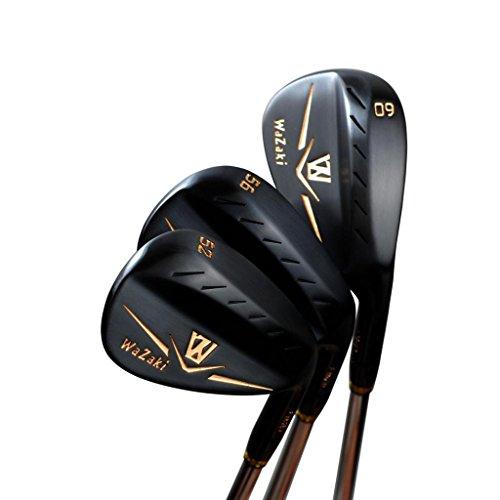 Generic Set mazze da golf Giappone Wazaki M, in ferro morbido forgiato USGA R A 52-56-60 gradi (set da 3)