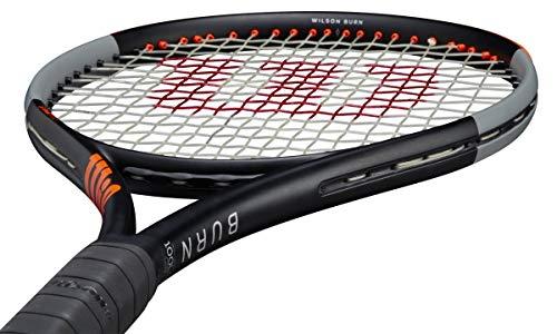 Wilson Burn 100LS V4 Powerful Intermediate Tennis Racquet with Extra Spin - Strung - Vibration Dampener (4-1/8)