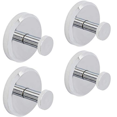 HOME SO Modern Towel Hook Holder Superior Technology Vacuum Suction Cup - Chrome (4)