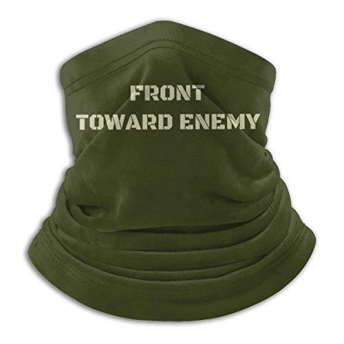 Front Toward Enemy Military Co-Vid Neck Gaiter Face Mask Bandana Summer Breathable Lightweight Fishing Motorcycling Running Balaclavas