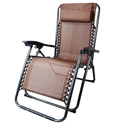 PETHOMEL Zero Gravity Chair, sedia da salotto reclinabile di grandi dimensioni con altezza regolabile e seduta imbottita XL con poggiatesta per esterni, campeggio, prato, D