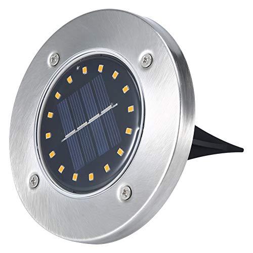 Eosnow Luces de Suelo solares, lámpara de Suelo No Necesita Otros Accesorios para Patios para terrazas