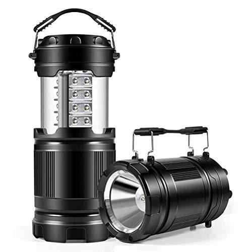 Prevessel Linterna de camping portátil LED, linterna de camping multifuncional, linterna de luz de pony, luz de emergencia retráctil para el hogar, jardín, senderismo, pesca