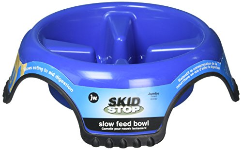 JW Skid Stop Food and Water Bowl Slow Feed
